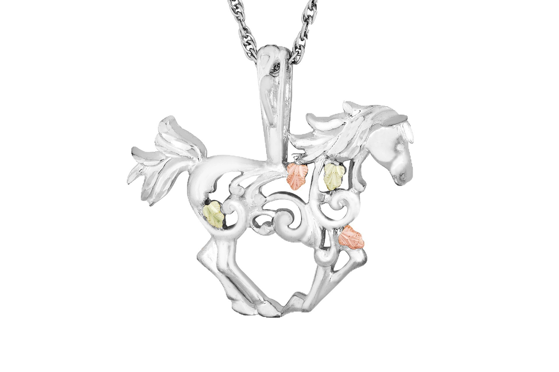 Black Hills Silver Horse Necklace