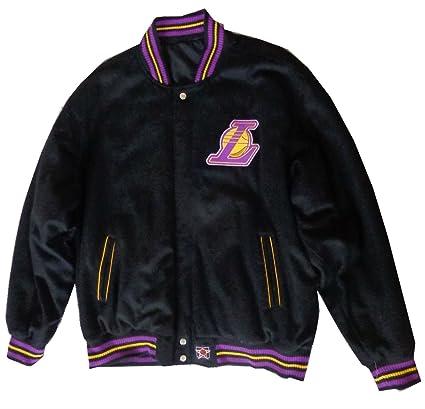brand new b71a1 2e145 Amazon.com : JH Design Men's LA Lakers Reversible jacket XXX ...