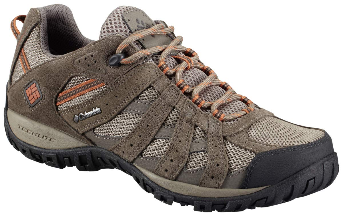Columbia Men's Redmond Waterproof Hiking Shoe, Pebble, Dark Ginger, 11 D US by Columbia