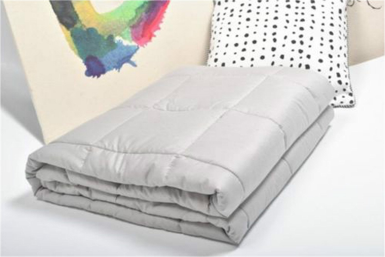 Cotton Weighted Sensory Blanket, 15 lbs Cozy Blanket, Fall Asleep Faster and Sleep Better (Weighted Sensory Blanket 48''x72'')