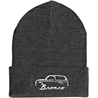 Soft Slouchy Brimless Beanie Hat Embroidery 1987-91 Ford Bronco Unisex Style