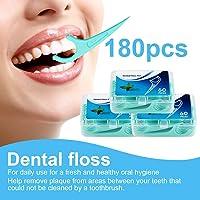 Hilo dental 180 Piezas, Palillos de hilo dental