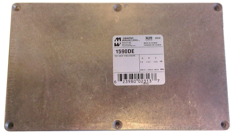 Hammond 1590DE Diecast Aluminum Enclosure -- Inches (7.88'' x 4.73'' x 2.37'') mm (200mm x 120mm x 60mm)