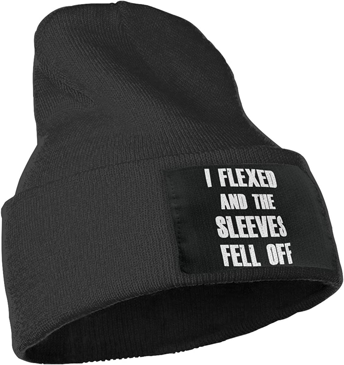 I Flexed and The Sleeves Fell Off Warm Winter Hat Knit Beanie Skull Cap Cuff Beanie Hat Winter Hats for Men /& Women