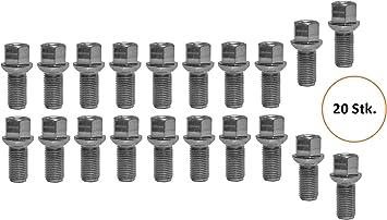 20 ZINK Radschrauben Radbolzen M14 1,5 35 Kugel R12 Kugelbund SW17 Alufelgen