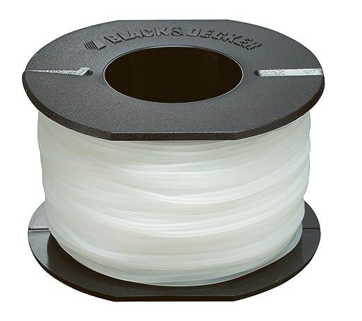 BLACK+DECKER A6171-XJ - Bobina de hilo reflex para cortabordes, 50 mx 1.5 mm