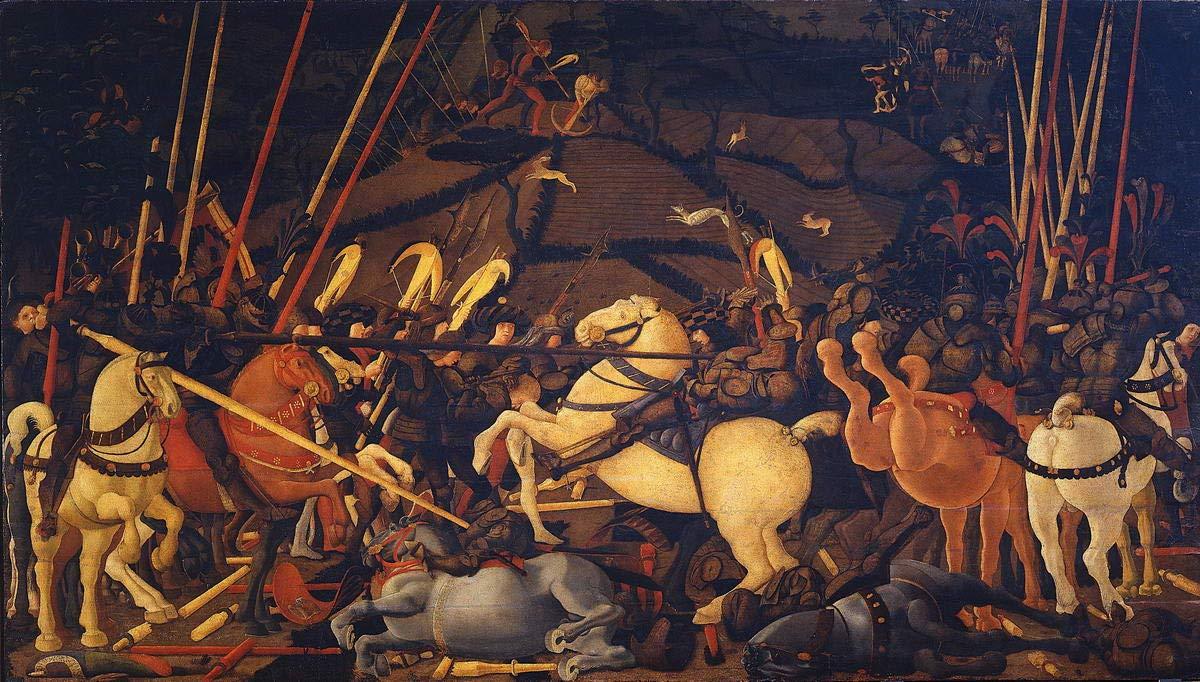 Berkin Arts Paolo Uccello gicl/ée Stampa su Tela-Dipinti Dipinti Belle Arti Manifesto-Riproduzione Decorazione murale #XFB Battesimo di San Romano