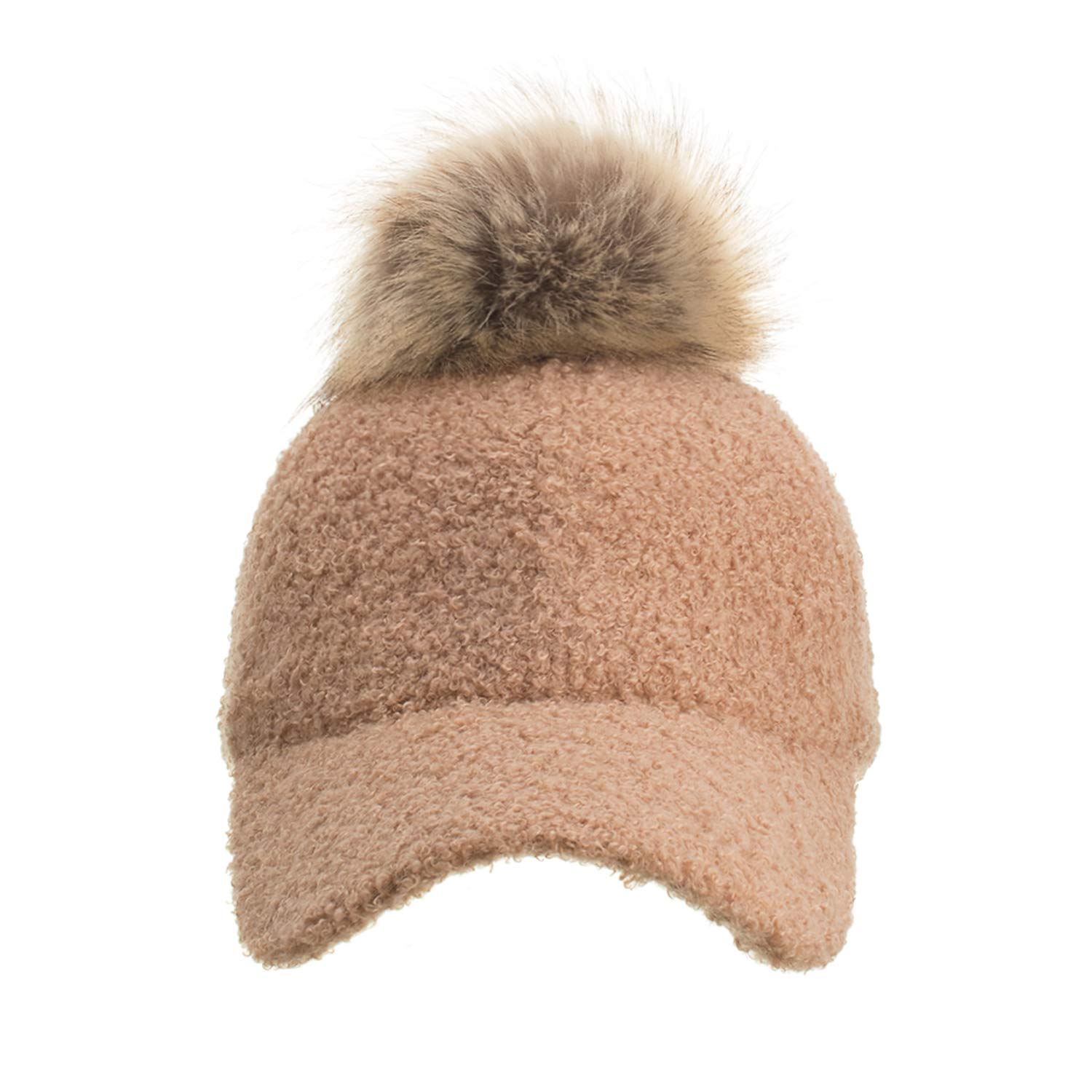 Winter Women Pompom Baseball Cap Casual Adjustable Hats Caps Drop Shipping Accepted