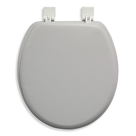 Soft Black 19 Inch Achim Home Furnishings Tovyelbk04 Fantasia Elongated Toilet Seat Rn Studio Com