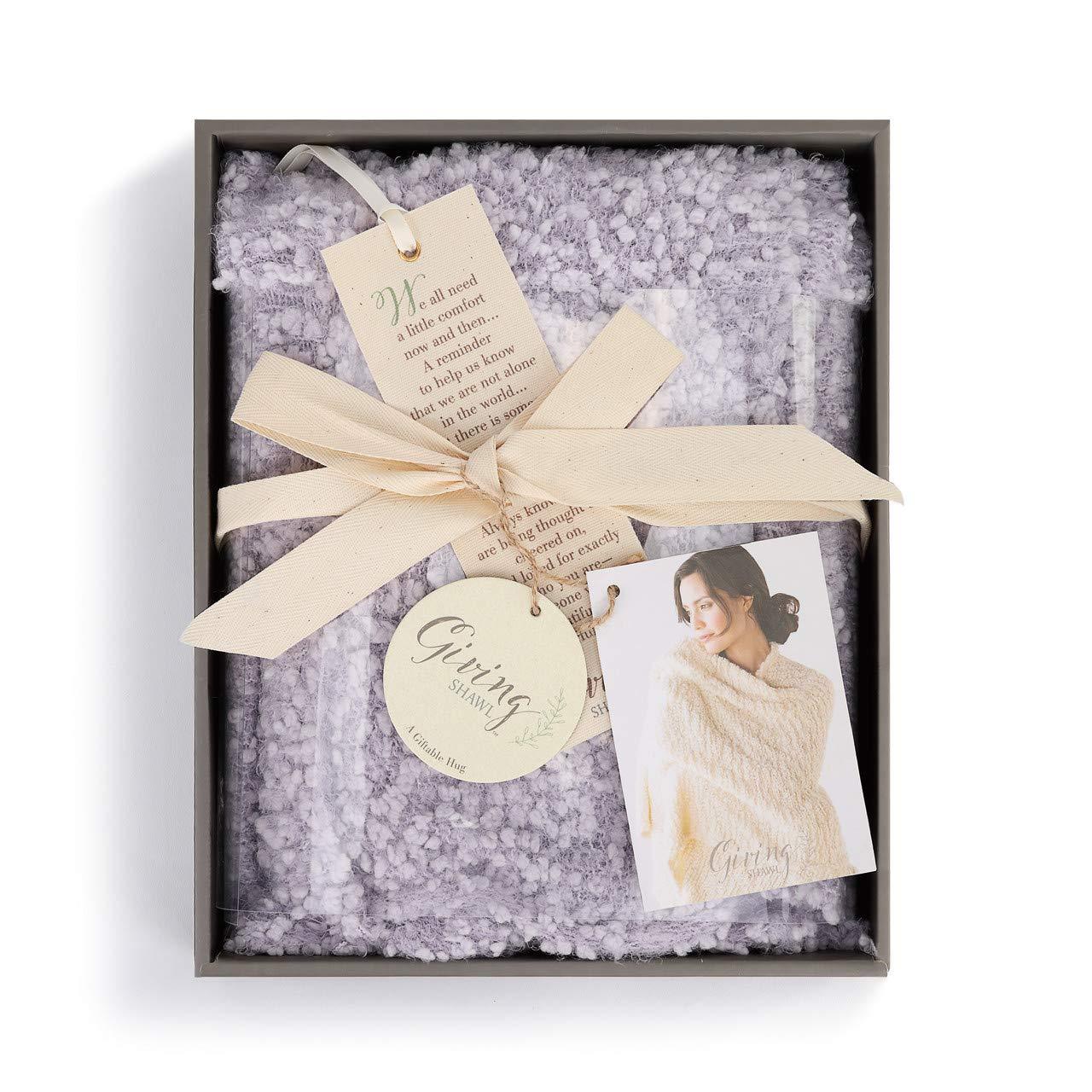 DEMDACO Giving Encourage Light Purple 70 x 27 Nylon Fabric Pashmina Shawl with Bookmark