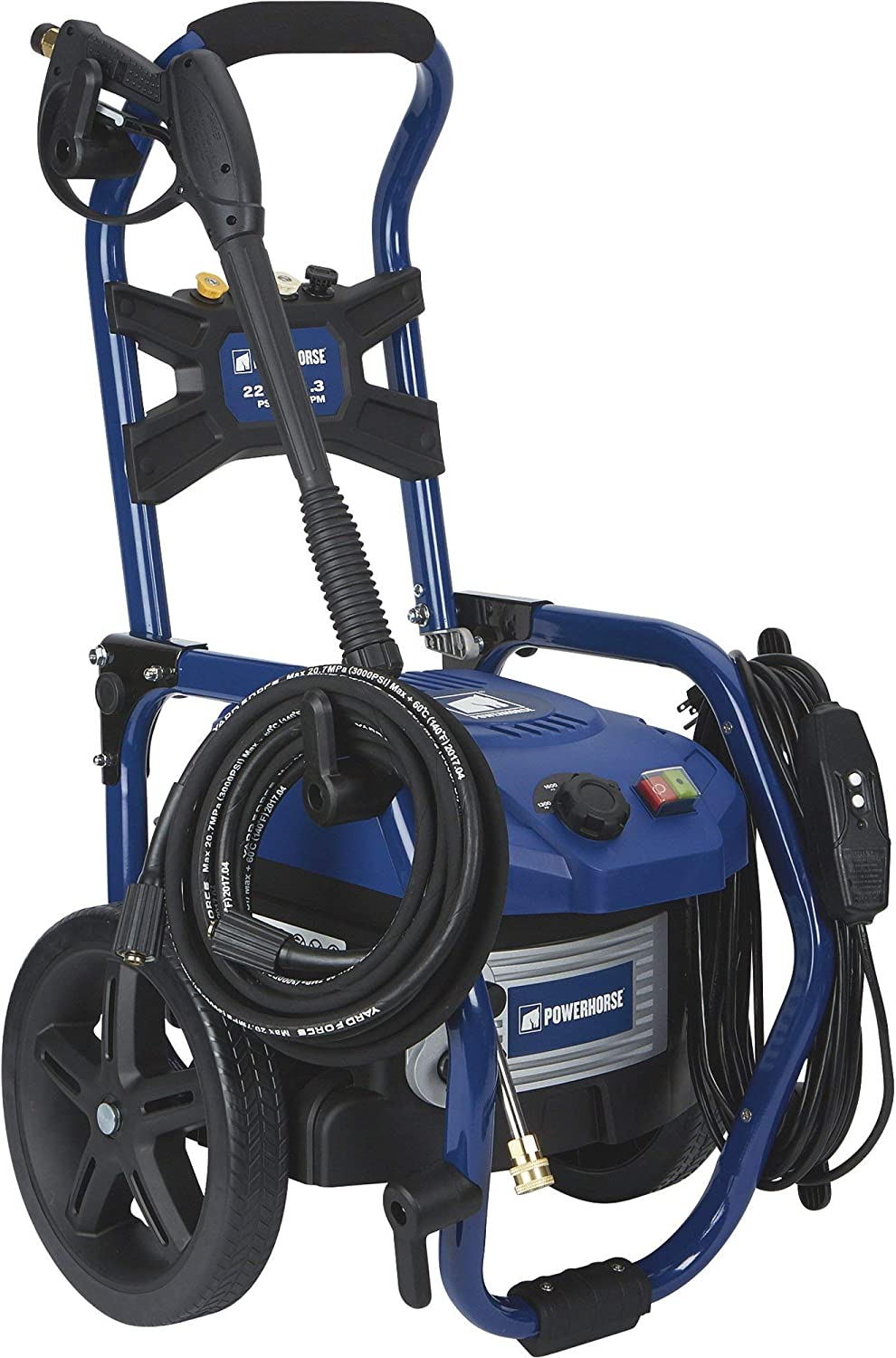 Powerhorse Brushless Portable Electric Pressure Washer Power Washer - 1.3 GPM, 2200 PSI