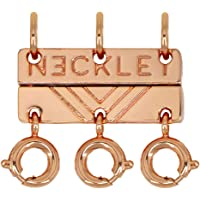 Necklet Triple Layering Clasp (Rose Gold)