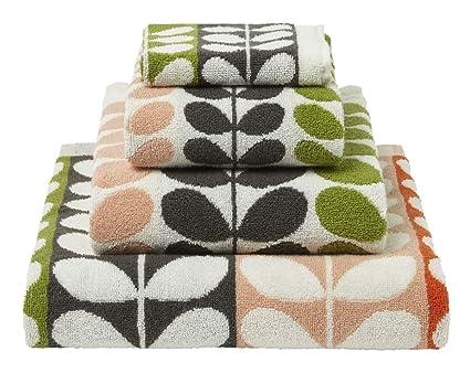 Möbel & Wohnen Hand-, Bade- & Saunatücher 2x Orla Kiely Multi Flower Bath SHEET 100% Cotton 100% Genuine NEW