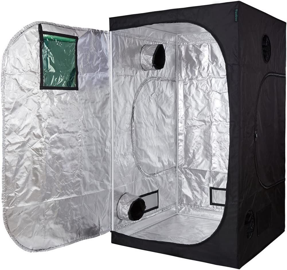 Oppolite Hydroponic 48 X48 X80 Grow Tent Room for Indoor Plant Growing Green View Window METAL Corners, 4 X4 48 X48 X80
