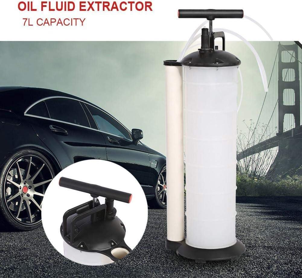 Bomba de aceite, 7L Fluid Manual Extractor de vacío de la bomba de aceite del coche del automóvil del aceite de motor de Aguas Residuales de succión de la bomba La extracción con 4 mangueras for el ca