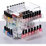 Ikee Design® Acrylic Tabletop Rotating Makeup Cosmetic Box & Organizer for nail polishes and other beauty products