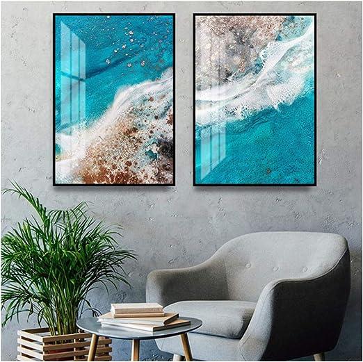 Coastal Sea Beach Wall Art Canvas Poster Landscape Print Modern Home Decoration