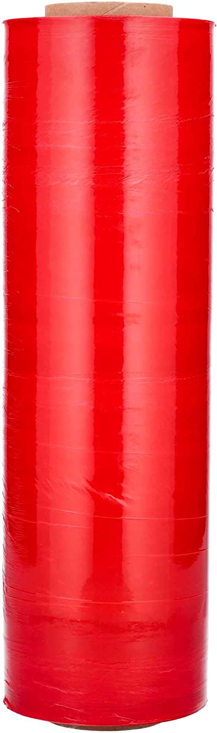 Red Color Hand Wrap Plastic Stretch Film 18