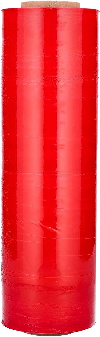 White Color Hand Bundling Stretch Wrap Plastic Film 18 x 1500 x 63 Gauge1 Roll