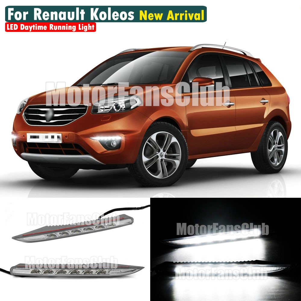 MotorFansClub Daytime Running Light Fog Lamp LED DRL for Renault Koleos 2012 2013 2014
