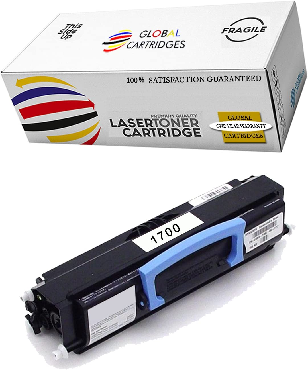 GLB Premium Quality Compatible Dell 1700, 1710, 310-7025, 310-5402, 310-7041 K3756 Black Toner Cartridge for Dell 1700, 1700n, 1710, 1710n Printers