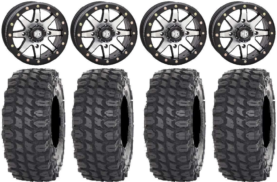 Bundle 6+1 32 X COMP Tires 4x137 Bolt Pattern 12mmx1.5 Lug Kit 9 Items: STI HD9 15 Bdlk Wheels MH