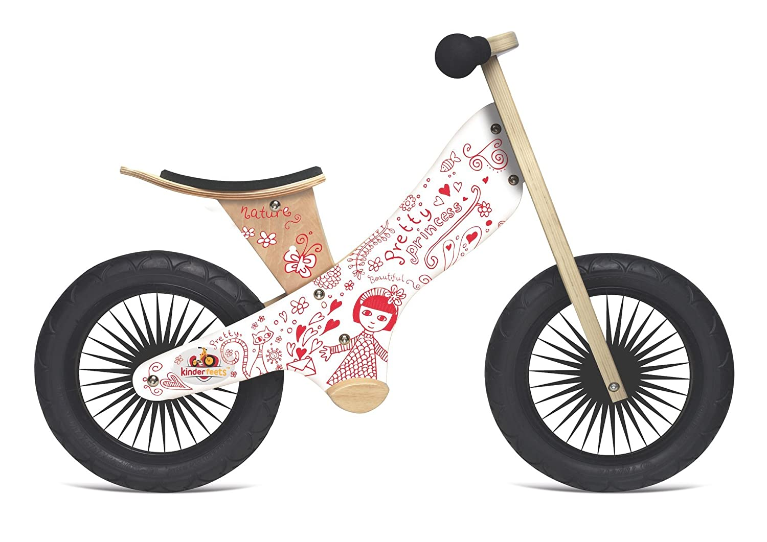 Kinderfeets Retro Princess Wooden Balance Bike KDFKF18.11