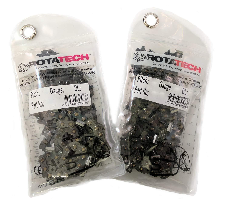 x2 dos Aut/éntica Rotatech cadena de motosierra para Stihl MS211 Barra de 16