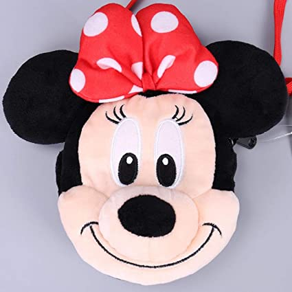 Jewh Mickey Mouse Minnie Donald Duck Daisy Strawberry Bear Monster University Plush Backpack Girl Shoulder Bag