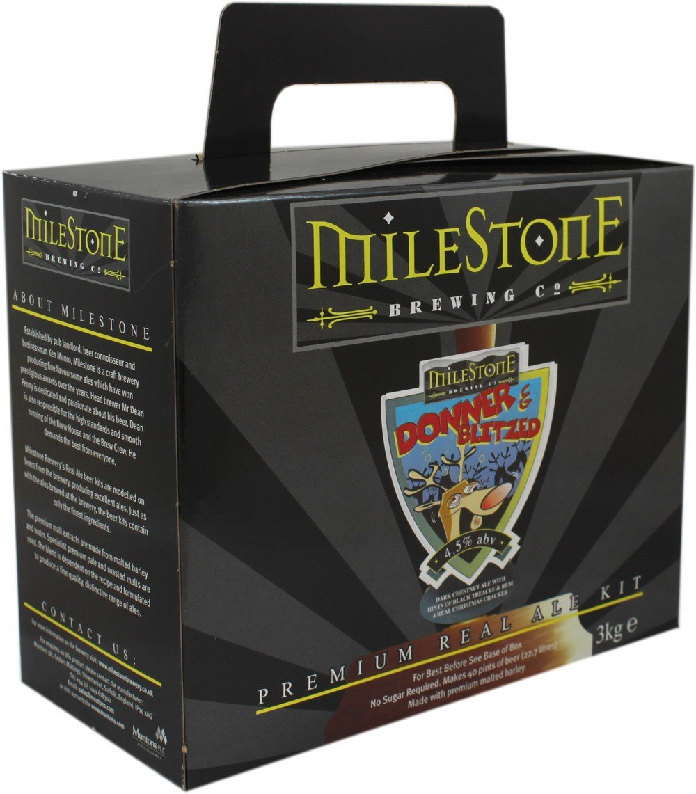 Home Brew Beer Kit - Milestone Donner and Blitzed - 40 Pints
