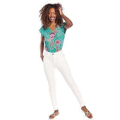 LOLALIZA Pantalon taille haute - Blanc - Tailles 36-48