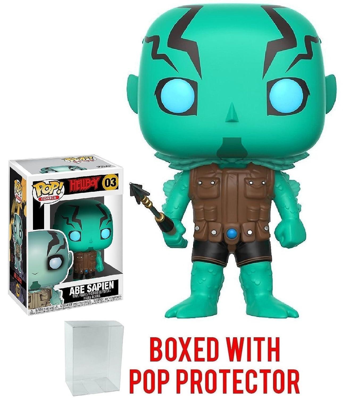 Includes Compatible Pop Box Protector Case Comics: Hellboy Abe Sapien Vinyl Figure Funko Pop