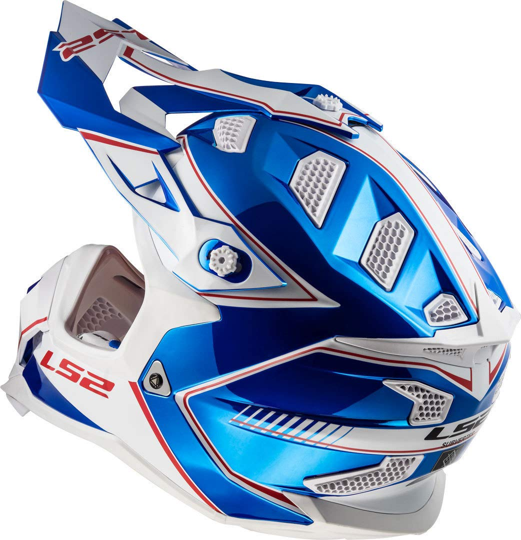 LS2 CASCO OFF ROAD MX SUBVERTER MX470 POWER CHROME BLUE BLU