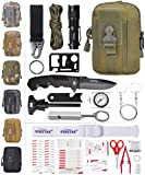 ETROL 22-in-1 Emergency Camping Survival Kit,First Aid Kit,Upgraded Tactical Molle Pouch,Outdoor Camping Gear for Car,Fishing,Boat,Hunting,Hiking,Home,Office etc.