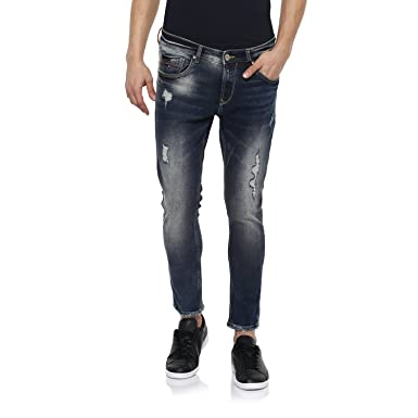 37d91c24d24 Spykar Mens Slim Fit Low Rise Jeans  Amazon.in  Clothing   Accessories