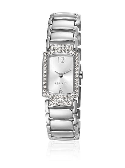 Esprit ES106652001 - Reloj analógico de cuarzo para mujer, correa de acero inoxidable color plateado