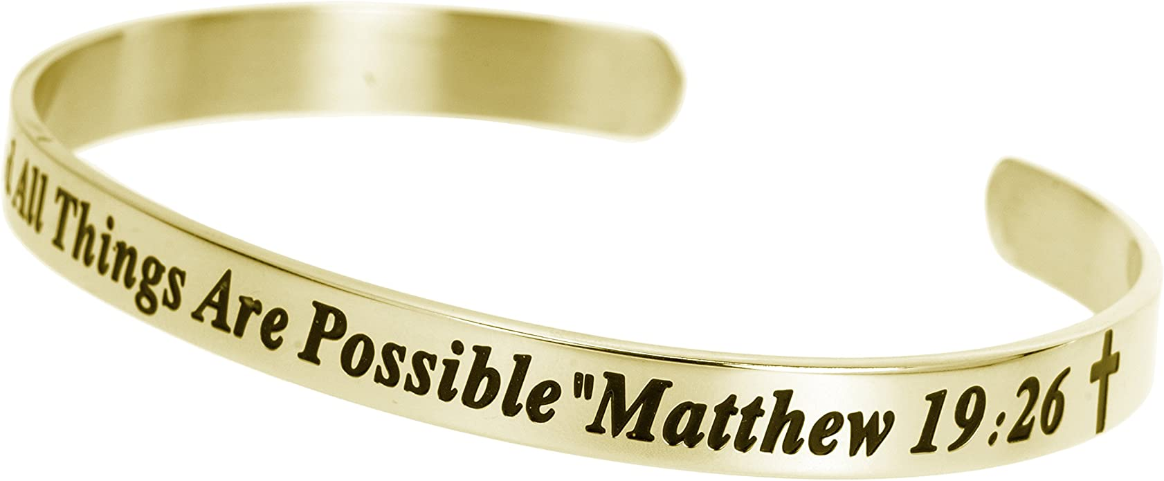 Faith Inspirational Word Calligraphy Dangle Charm for European Bead Bracelets