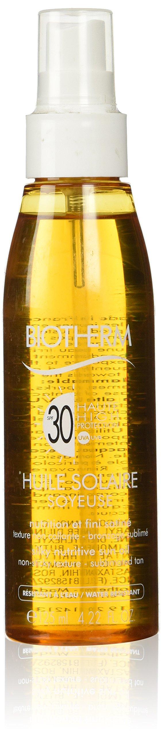 Biotherm Huile Solaire Soyeuse SPF 30 Silky Nutritive Sun Oil, 4.22 Ounce