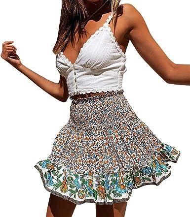 Vectry Faldas Mujer Falda Plisada Estampada para Mujer Falda ...