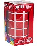 Apli Rouleau de gommettes carrés 20 mm Rouge