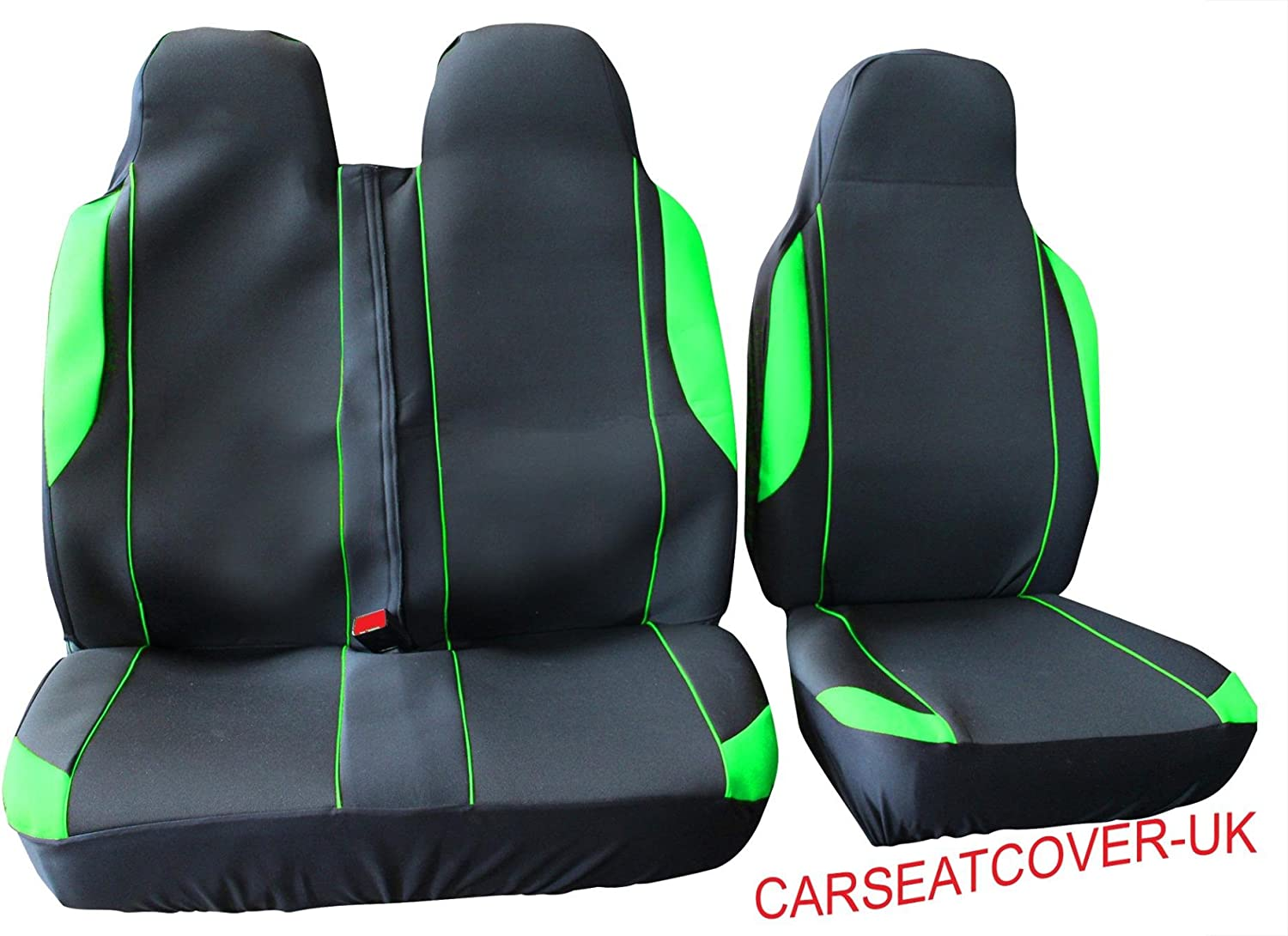 Double Carseatcover-UK VSX137 Luxury Padded Leather Look Van Seat Covers Single
