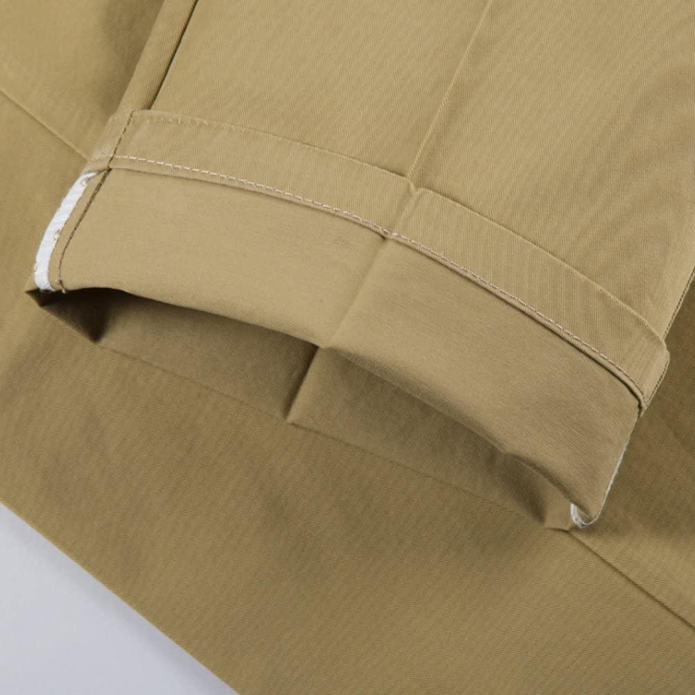 Zhhlinyuan Stretchy Slim Straight Formal Business Work Trousers Chinos For Mens
