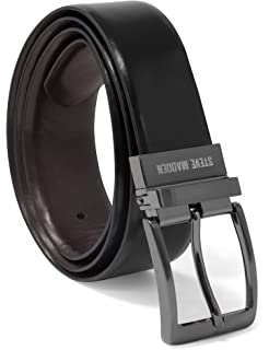 d7d01aab1bc Steve Madden Men s Dress Casual Every Day Reversible Leather Belt