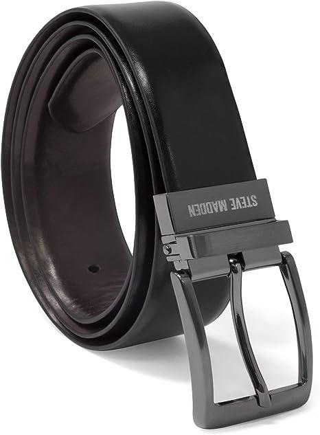 Amazon.com: Steve Madden - Cinturón de piel reversible para ...