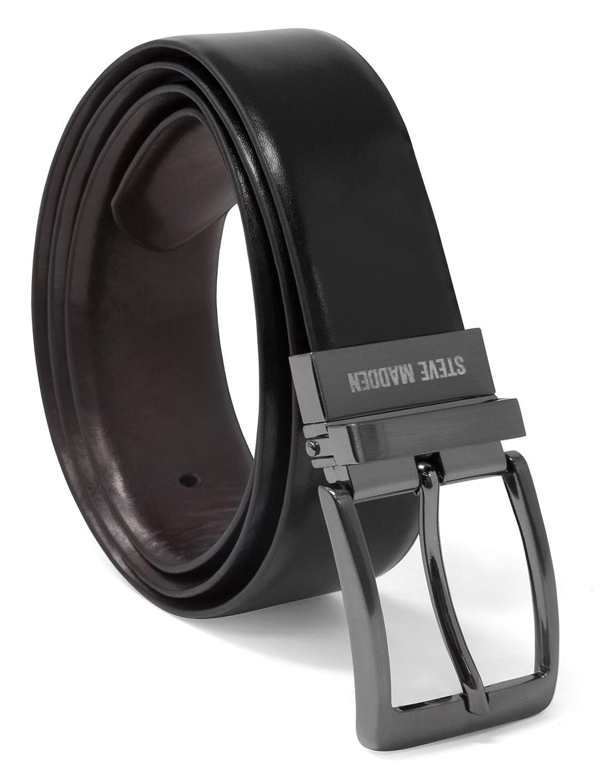 Steve Madden mens Dress Casual Every Day Reversible Leather Belt Belt