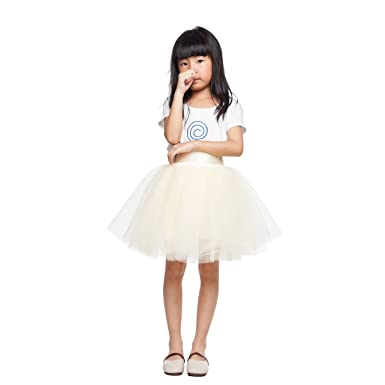 979e656f78 ShowYeu Girl's 7 Layers Kids Pettiskirt Ballet Dance Dress-up Tutu Tulle  Skirt Ball Gown