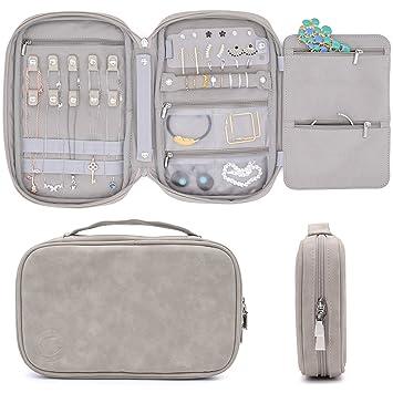 Amazon.com: Organizador de joyas de viaje, estuche de ...