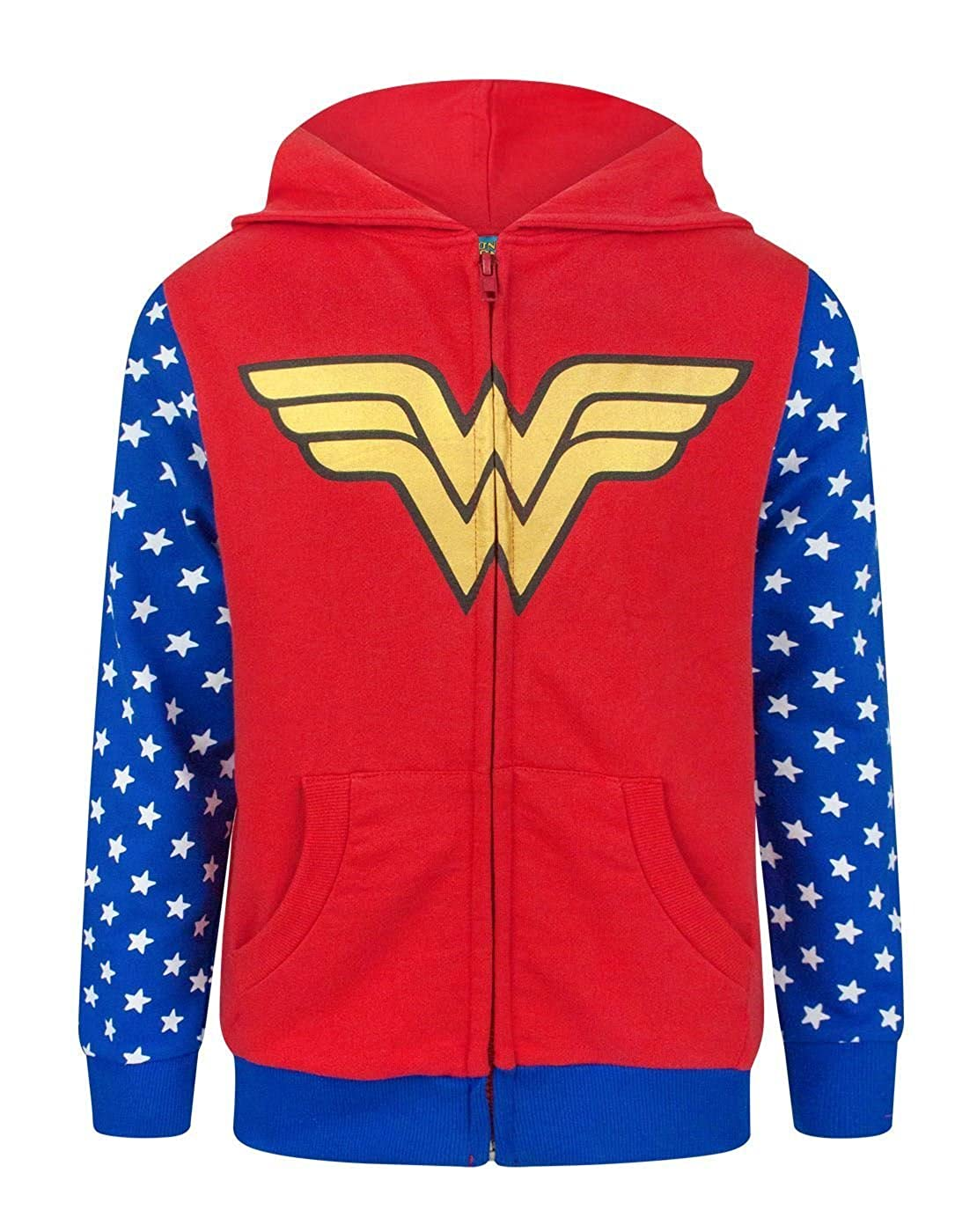 Wonder Woman Logo Girl's Zip-Up Hoodie Fashion UK