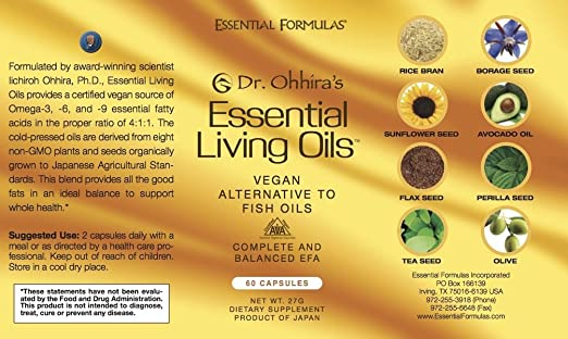 Amazon.com: Dr. Ohhirau0027s Essential Living Oils   60 Capsules   A Vegan  Alternative To Fish Oil With Omega 3, 6 And 9: Health U0026 Personal Care