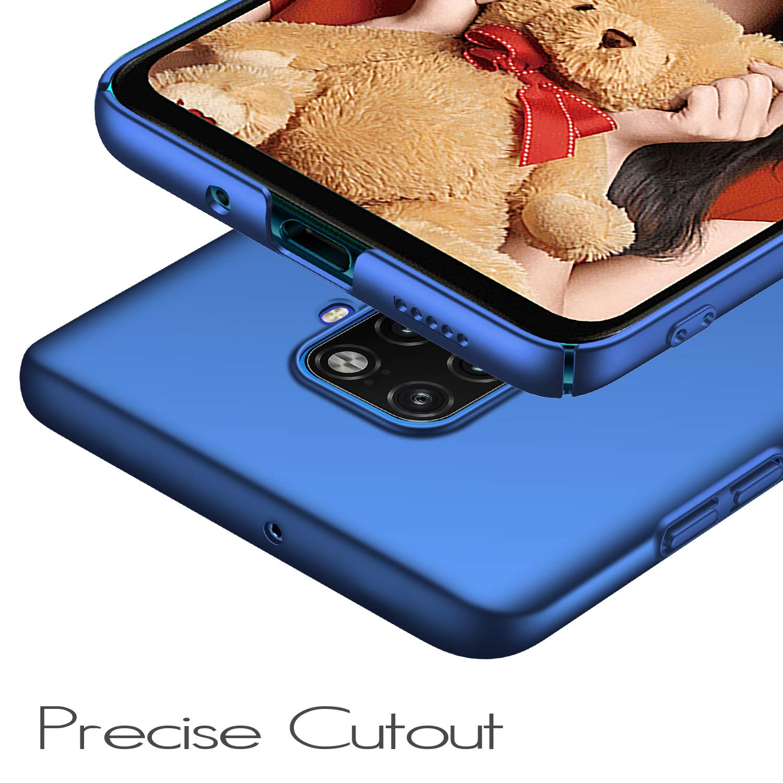 UCMDA Funda para Huawei Mate 30 Lite, Carcasa Huawei Mate 30 Lite con Protector de Pantalla, Fundas [Anti-Arañazo] Duro para Huawei Mate 30 Lite (Azul)